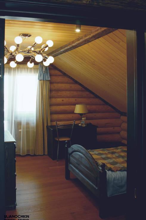 Dormitorios de estilo  por ULJANOCHKIN DESIGN*STUDIO