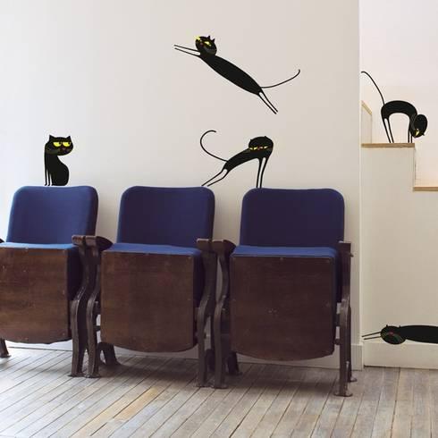 wallstickers catenkit black di ich et kar homify. Black Bedroom Furniture Sets. Home Design Ideas