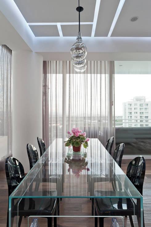 DEPARTAMENTO EN CUERNAVACA: Comedores de estilo moderno por HO arquitectura de interiores