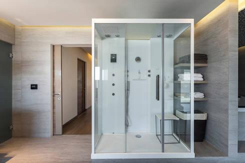 DEPARTAMENTO EN BOSQUE REAL: Spa de estilo moderno por HO arquitectura de interiores