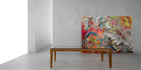 Mesa ratona classic: Livings de estilo moderno por Forma muebles