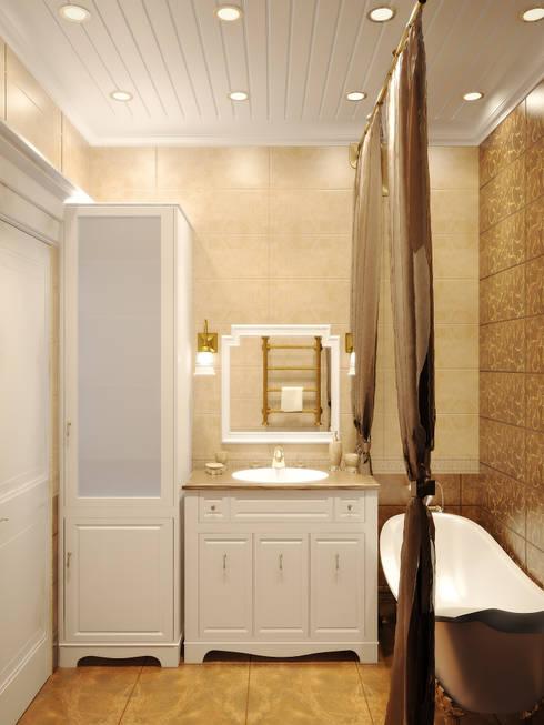 Симуков Святослав частный дизайнер интерьераが手掛けた浴室