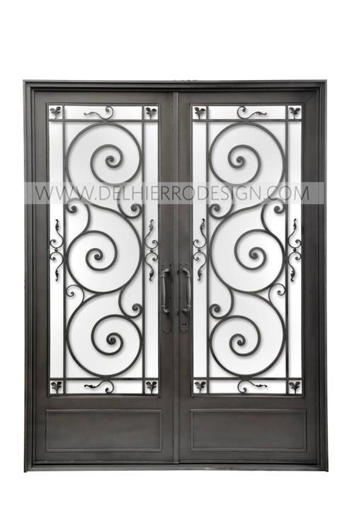 Puerta de entrada de hierro forjado por del hierro design for Puertas de entrada de hierro