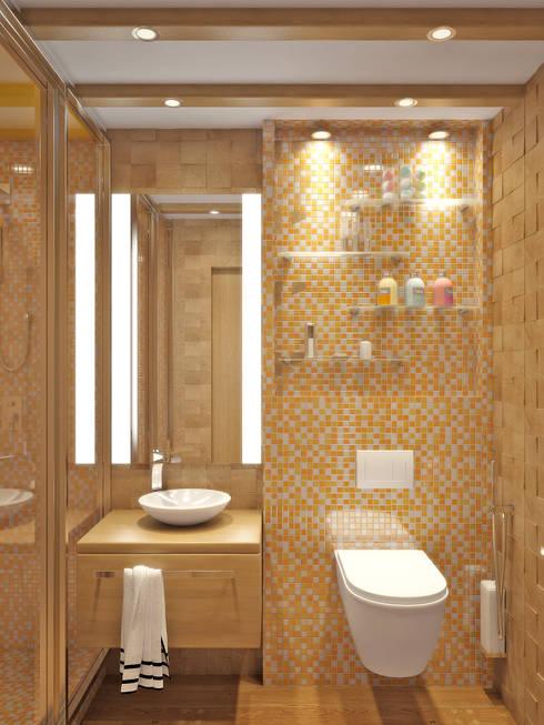 mediterranean Bathroom by Симуков Святослав частный дизайнер интерьера
