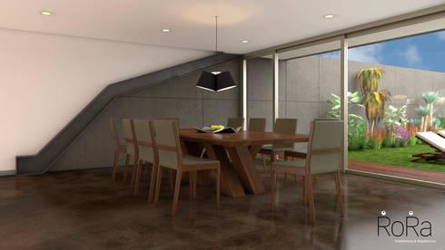Desarrollo de Interiorísmo : Comedores de estilo moderno por LA RORA Interiorismo & Arquitectura
