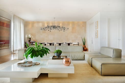Sala de Estar: Salas de estar modernas por Thaisa Camargo Arquitetura e Interiores