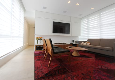 APARTAMENTO JARDINS - SP: Salas de estar modernas por Domingos Bidoia Arquitetura