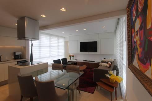 APARTAMENTO JARDINS – SP: Salas de estar modernas por Domingos Bidoia Arquitetura
