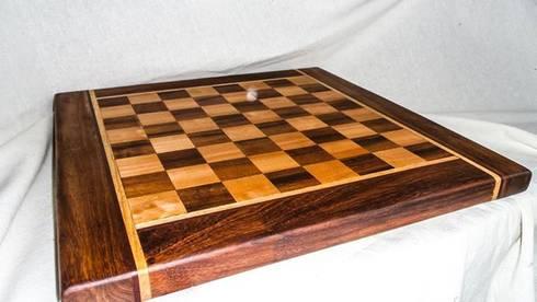 Tablero ajedrez: Salas de estilo rural por Natureflow®