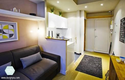 studio 15m2 r novation et d coration compl te by dezign. Black Bedroom Furniture Sets. Home Design Ideas