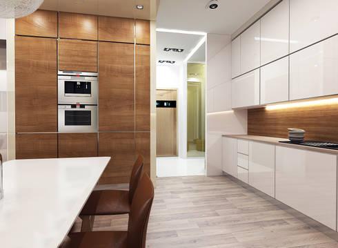 Авеню 77-11: Кухни в . Автор – ООО 'Студио-ТА'