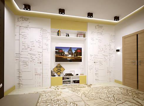 Авеню 77-11: Детские комнаты в . Автор – ООО 'Студио-ТА'
