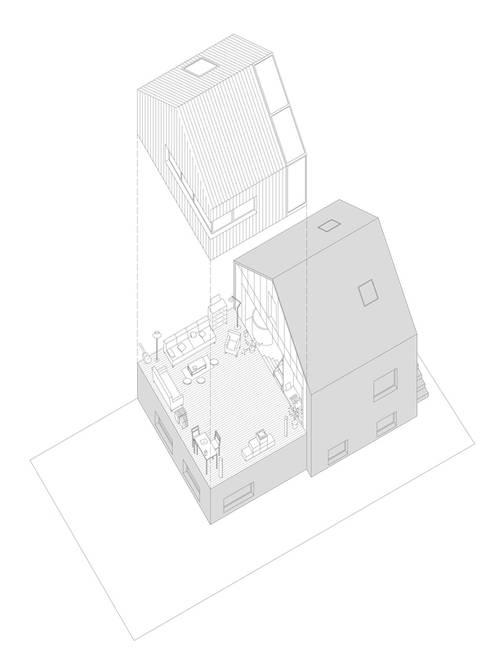 J'habite à Drancy, extension d'une maison :  de style  par Atelier d'Architectures Fabien Gantois