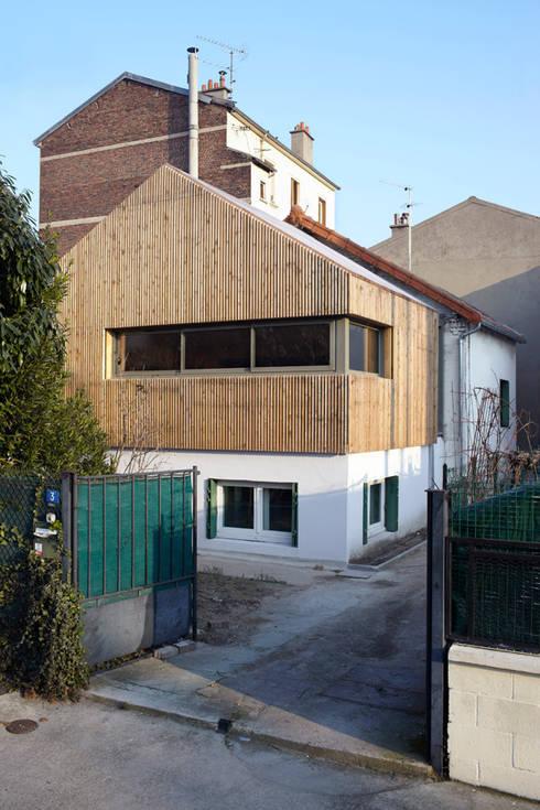 J'habite à Drancy, extension d'une maison : Maisons de style de style Moderne par Atelier d'Architectures Fabien Gantois