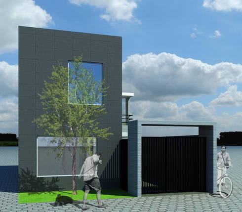 CASA L: Casas de estilo moderno por ODRACIR