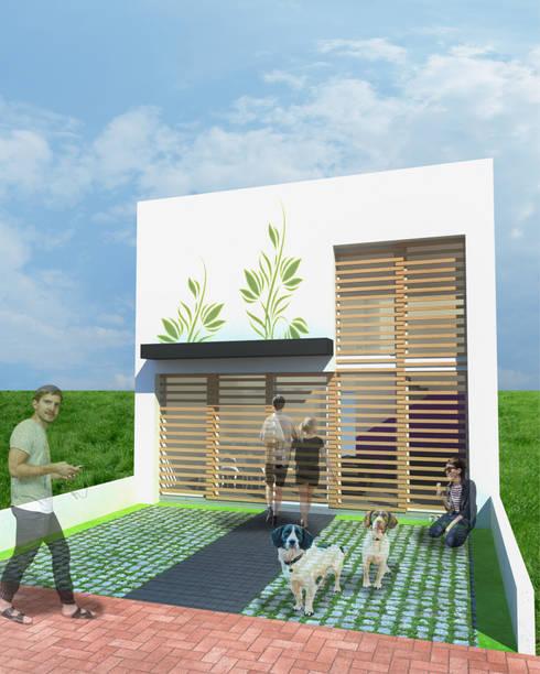 CASA TAR: Casas de estilo moderno por ODRACIR