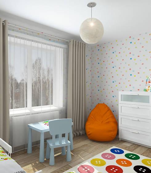Коттедж в деревне Пирогово: Детские комнаты в . Автор – Design Rules