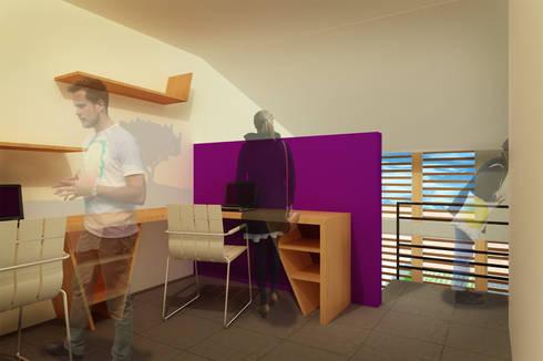 CASA TAR: Estudios y oficinas de estilo moderno por ODRACIR