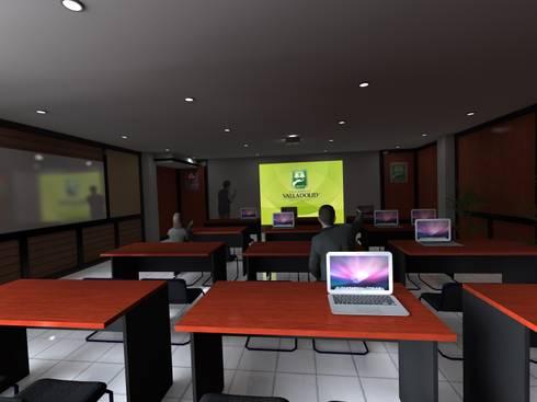 Vista Central de la Sala:  de estilo  por ARQUITECTURA MB&A