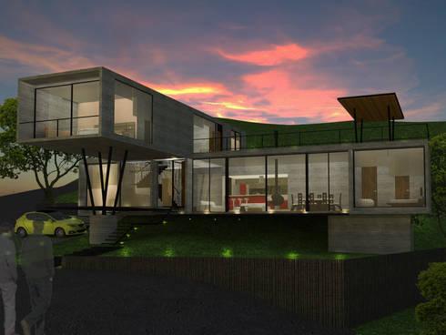 Vista aterdecer: Casas de estilo moderno por SERVER arquitectura y construcción