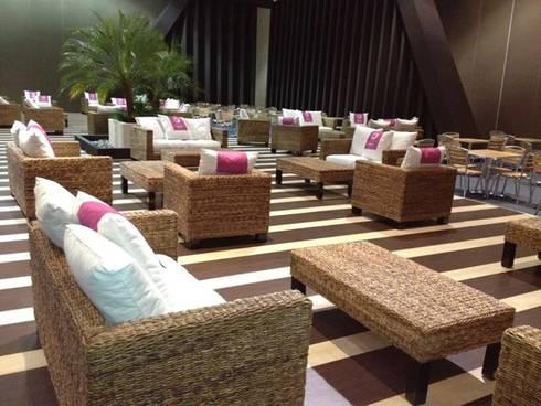 Proyectos de renta: Balcones y terrazas de estilo rústico por Sand And Garden SA de CV