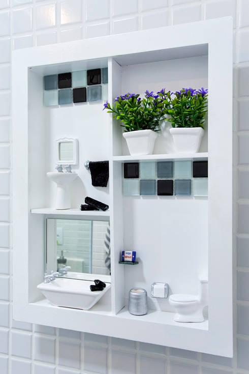 Amanda Pinheiro Design de interiores의  욕실