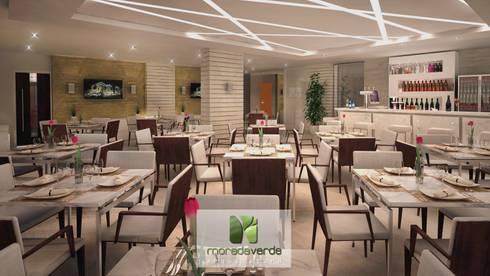 Tulip Inn Batel - Curitiba - PR: Salas de jantar minimalistas por Moradaverde Arquitetura