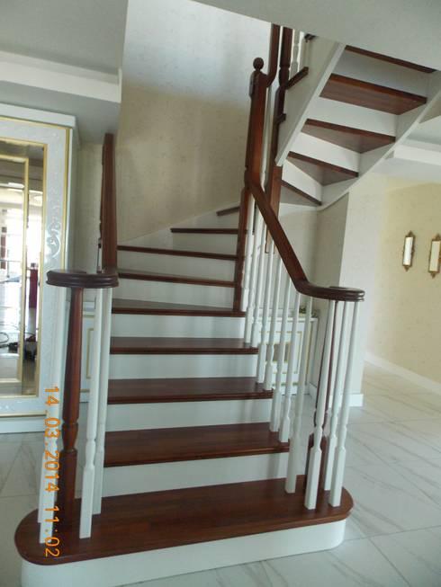 Vestíbulos, pasillos y escaleras de estilo  de Vizyon mimarlık ve Dekorasyon