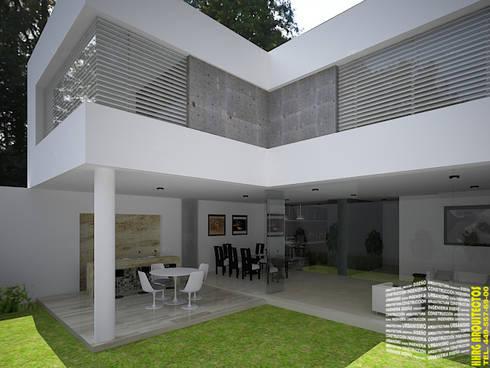 TERRAZA: Terrazas de estilo  por HHRG ARQUITECTOS