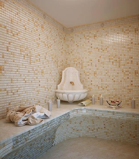 Grand Villa: styl klasyczne, w kategorii Spa zaprojektowany przez Shtantke Interior Design