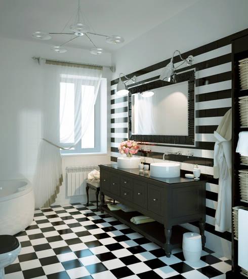 Grand Villa: styl , w kategorii Łazienka zaprojektowany przez Shtantke Interior Design