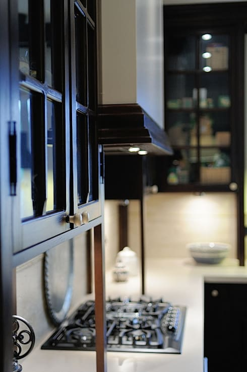 Cocinas de estilo rústico por ARTEMA  PRACOWANIA ARCHITEKTURY  WNĘTRZ
