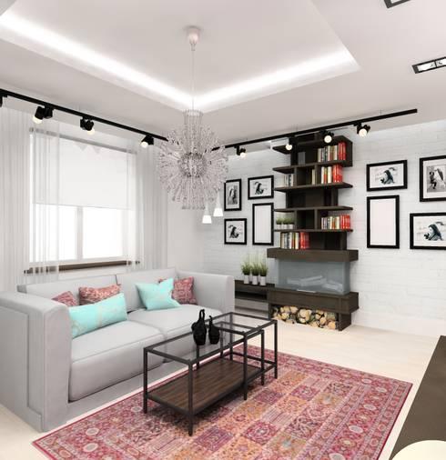 Гостиная: Гостиная в . Автор – Design&Interior Krasilnikova