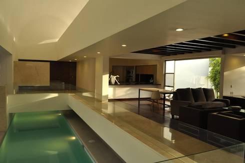 CASA PM: Albercas de estilo moderno por Vito Ascencio y Arquitectos
