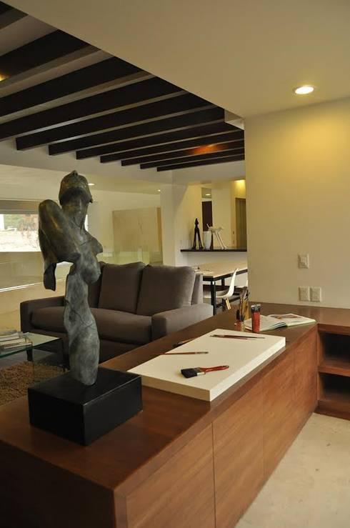 CASA PM: Salas de estilo moderno por Vito Ascencio y Arquitectos