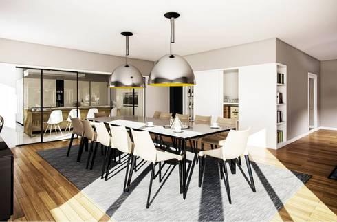 Moradia no Porto: Salas de jantar modernas por Vilaça Interiores
