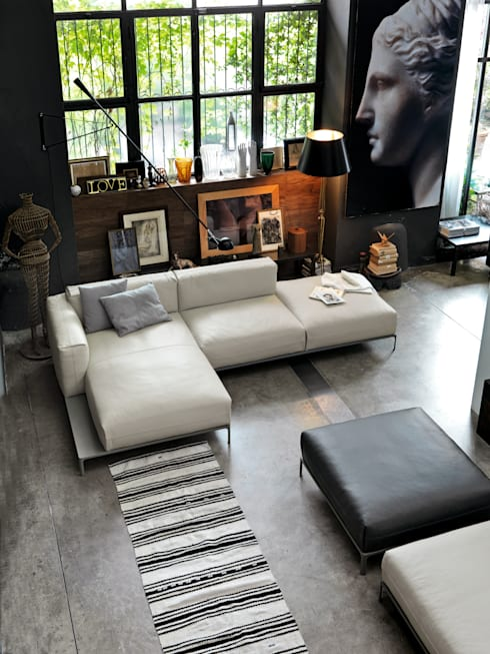 Projekty,  Salon zaprojektowane przez IMAGO DESIGN