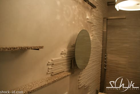 Bagno Techo Zen: Bagno in stile in stile Moderno di Shock-Id