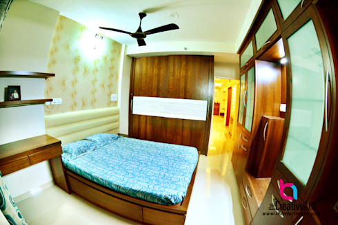Creative Axis Interiors Pvt. Ltd.: modern Bedroom by Creative Axis Interiors Pvt. Ltd.