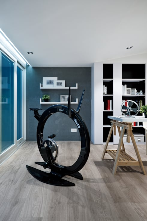 modern Gym by Millimeter Interior Design Limited