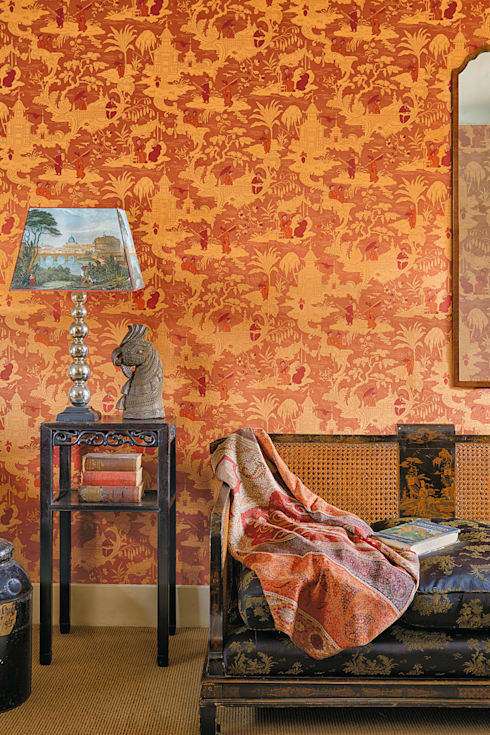 Chinese Toile:  Walls & flooring by Cole & Son