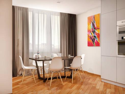 Теплый модерн с очаровательной детской: Столовые комнаты в . Автор – Tatiana Zaitseva Design Studio