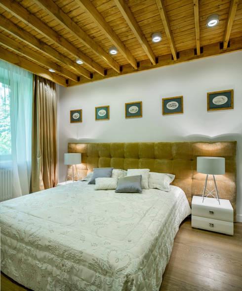 Апартаменты на Бирюзова: Спальни в . Автор – Дизайн-студия 'Вердиз'
