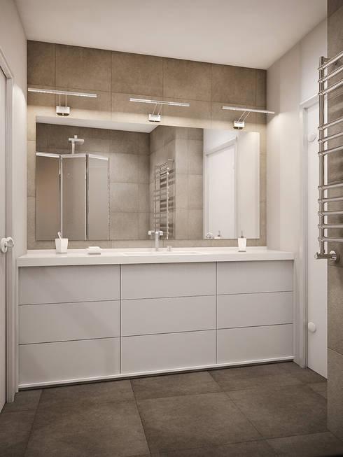 Теплый модерн с очаровательной детской: Ванные комнаты в . Автор – Tatiana Zaitseva Design Studio