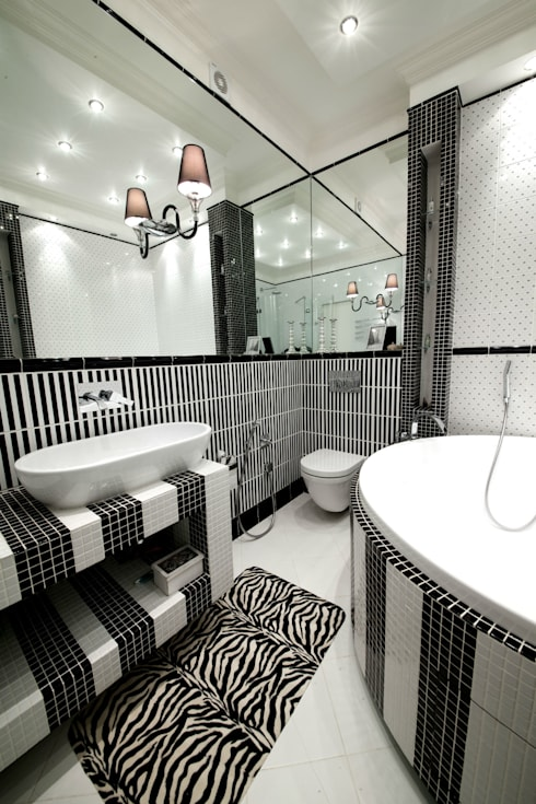 Квартира на Крупской : Ванные комнаты в . Автор – Дизайн-студия «ARTof3L»