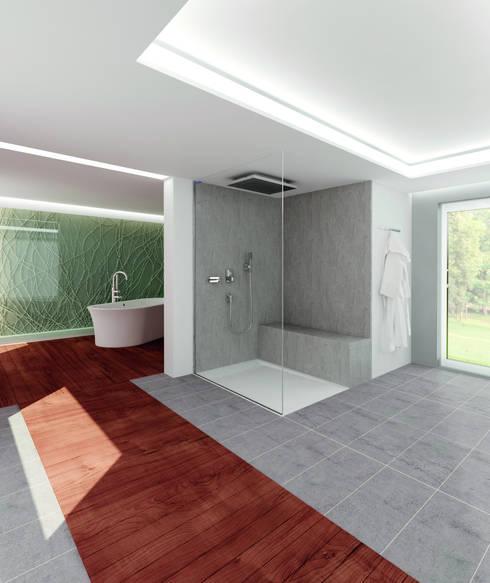 Casas de banho ecléticas por Duscholux Sanitärprodukte GmbH