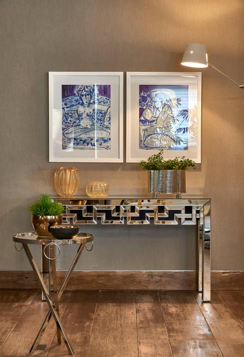 Apartamento LJ: Salas de estar modernas por Gláucia Britto