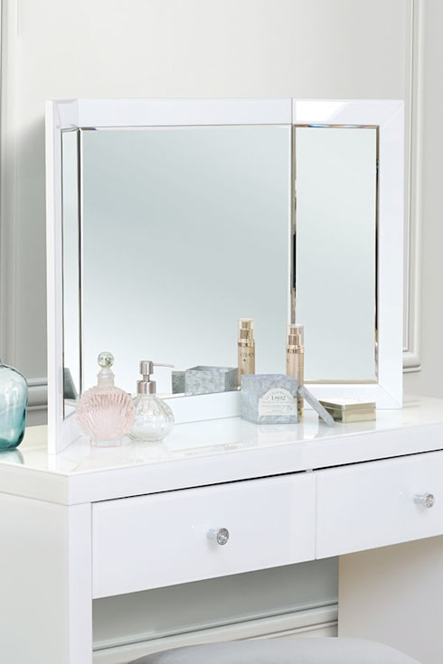 Colleta White Triple Folding Mirror:  Dressing room by My Furniture
