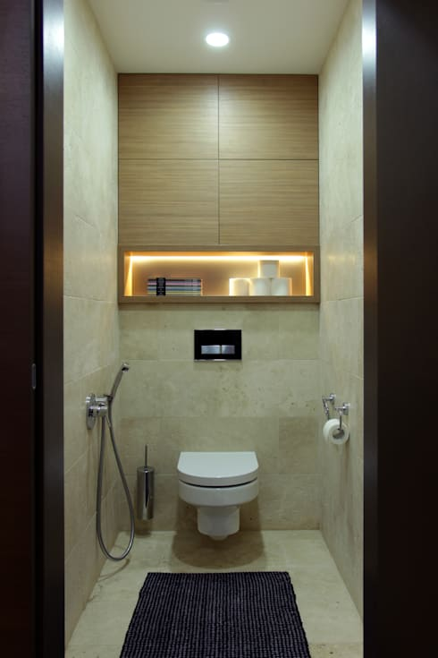 Однушка: Ванные комнаты в . Автор – Lugerin Architects