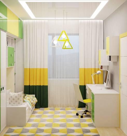 Projekty,  Pokój dziecięcy zaprojektowane przez Студия дизайна Interior Design IDEAS